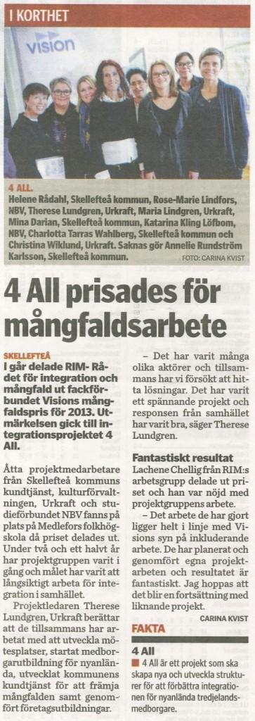 4ALL i Norran 131016